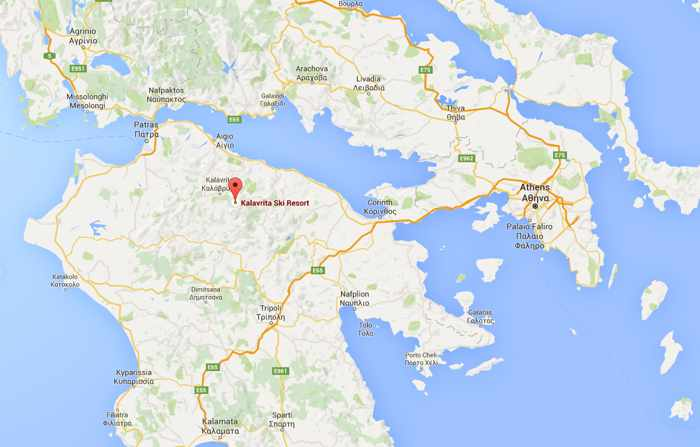 kalavrita-ski-center-location-marked-on-google-map