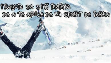 inainte de schi